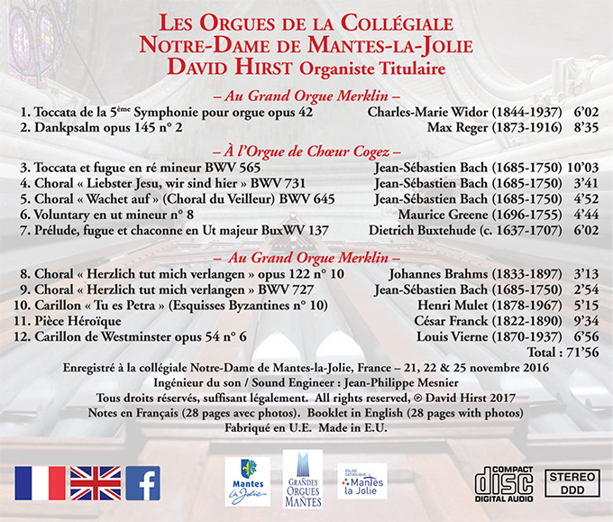 Les Orgues de la Collégiale de Mantes-la-Jolie back cover