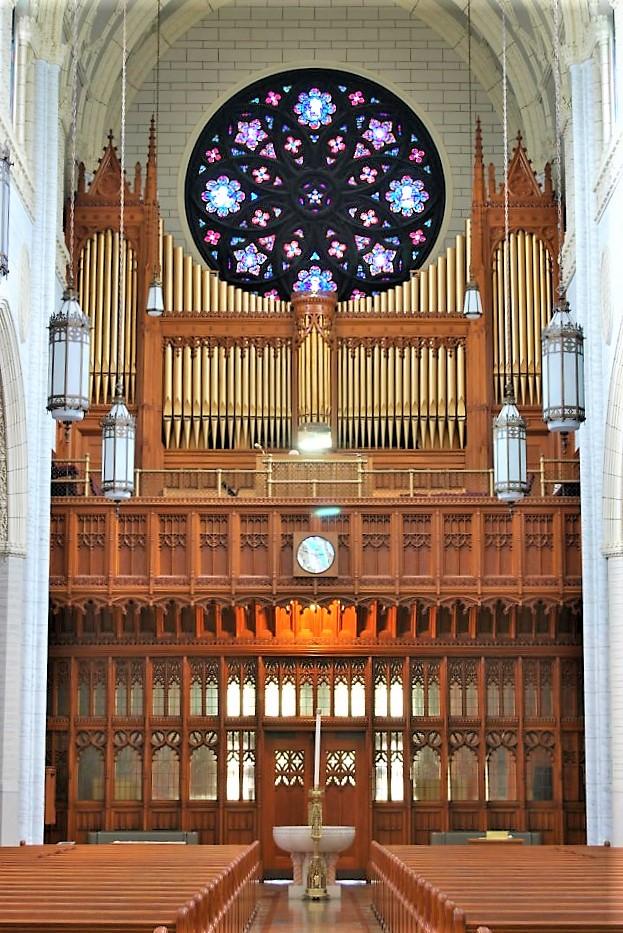 Lewiston Maine organ case